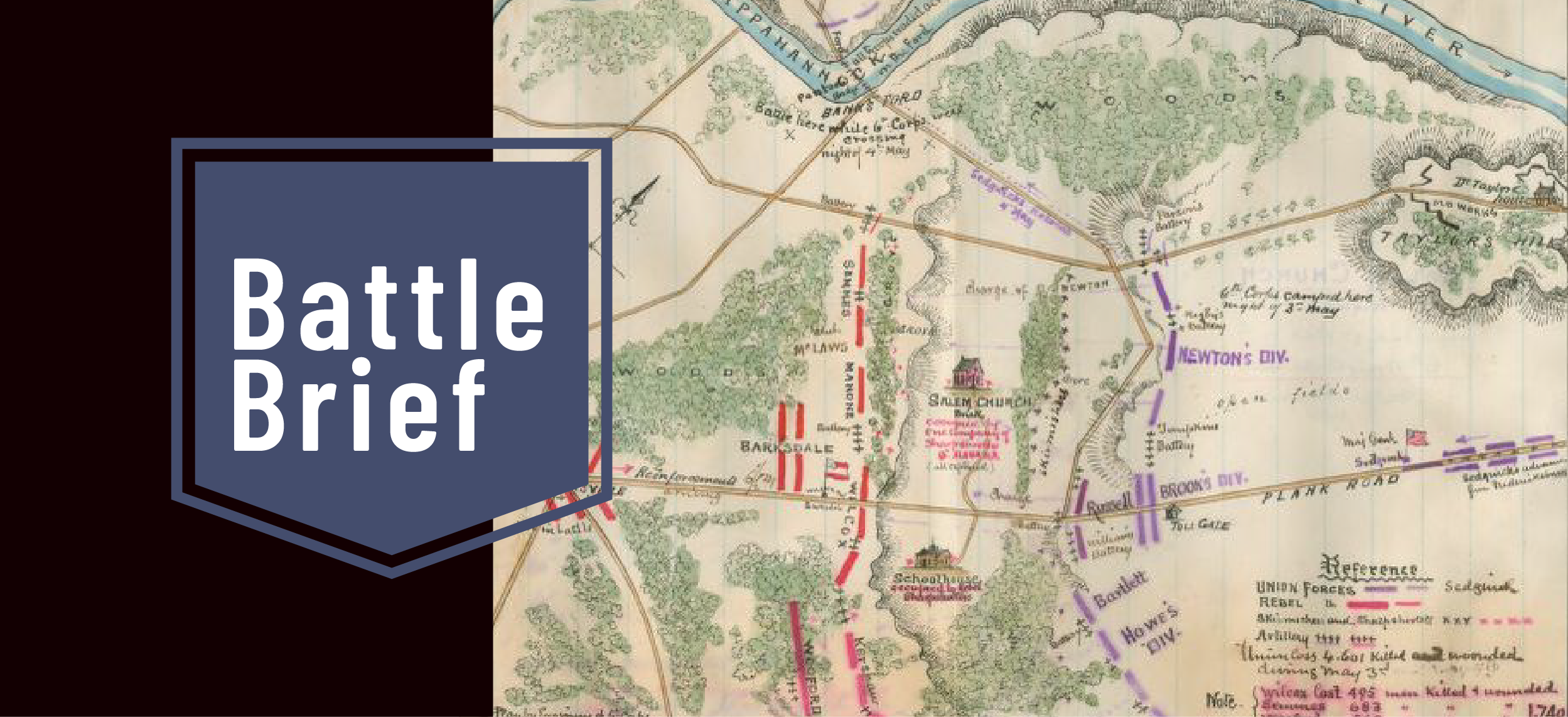Image of antique battle map of Northern Virginia