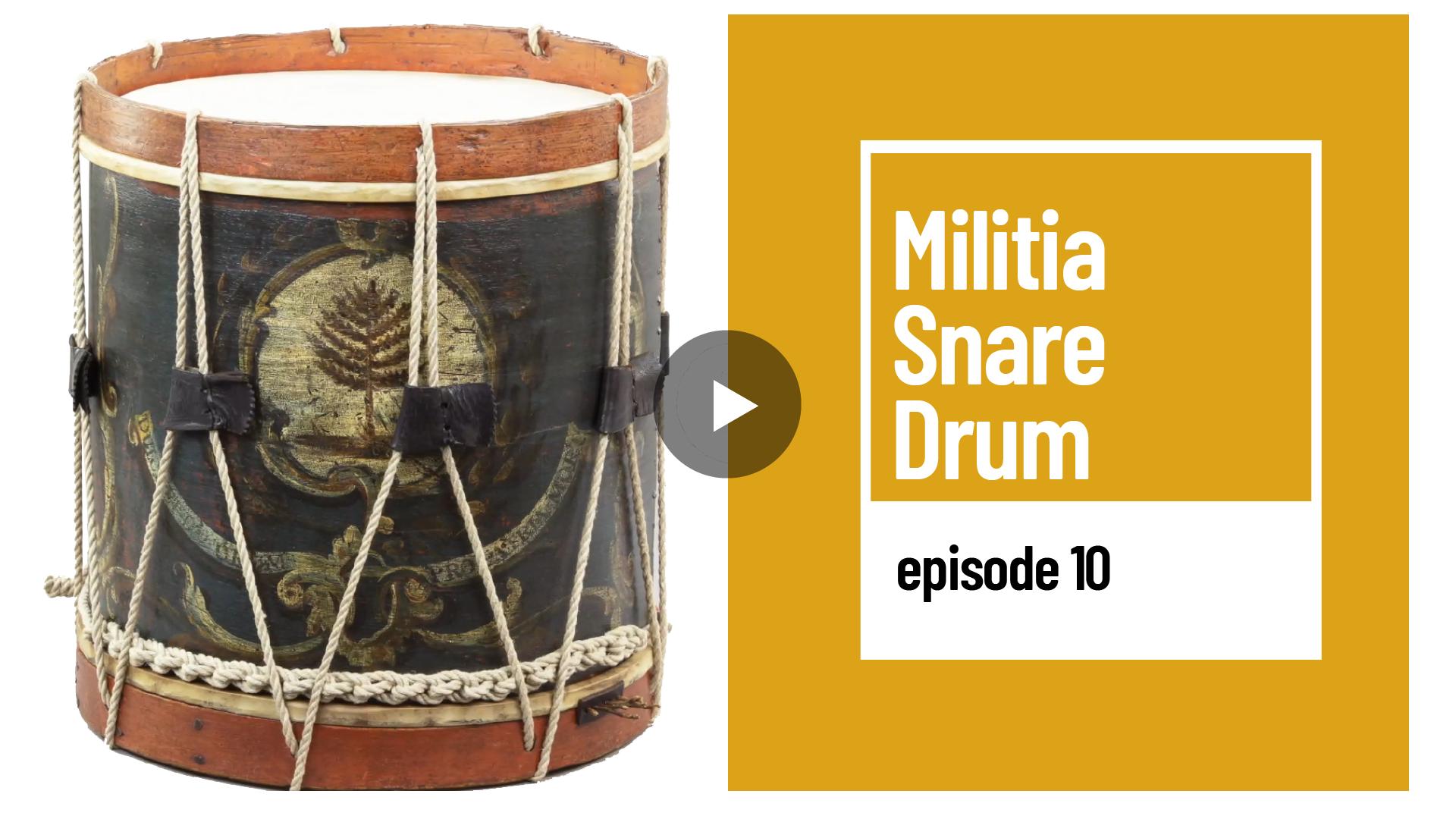 Image of curator's Corner Militia Snare Drum