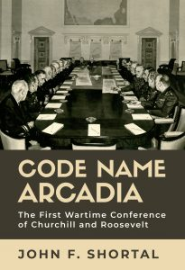 Book cover depicting military figures and men in suits sitting around a conference table